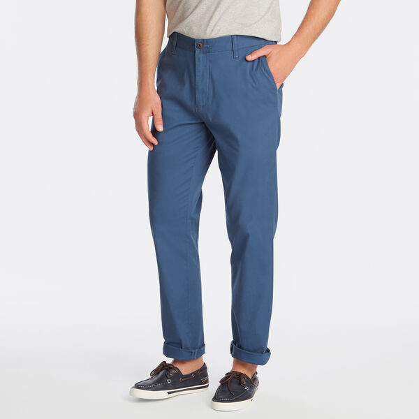 SLIM FIT STRETCH TWILL PANTS - Ensign Blue