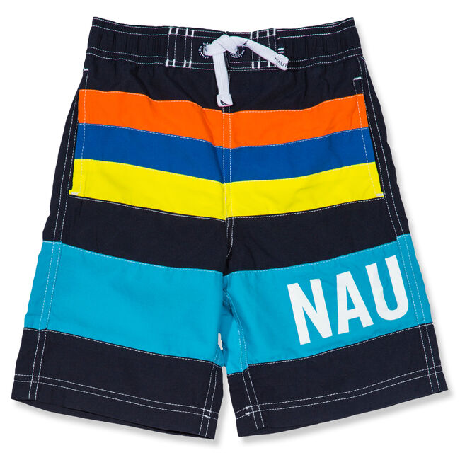 Little Boys' Zachary Colorblock Swim Trunks (4-7),Sport Navy,large