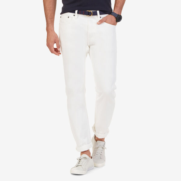 Selvedge White Denim Jeans - White Water Wash