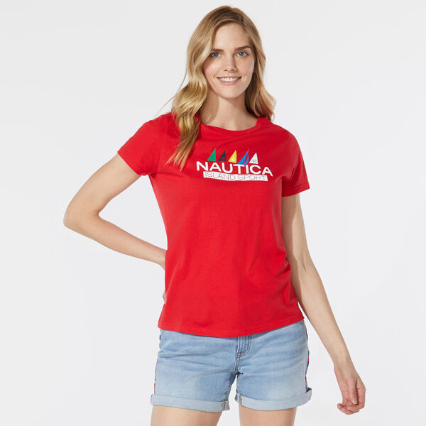 ISLAND SPORT FLAG GRAPHIC T-SHIRT - Tomales Red