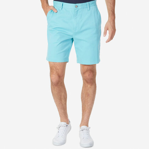 Big & Tall Flat Front Classic Fit Deck Shorts - Angel Blue