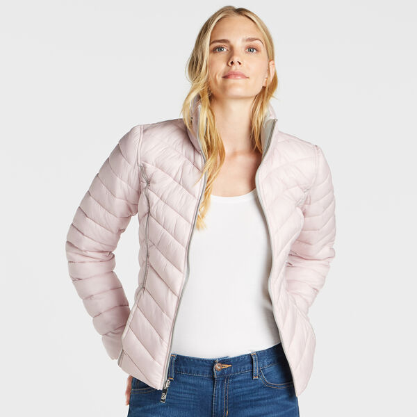 Reversible Packable Puffer Jacket - Light Purple