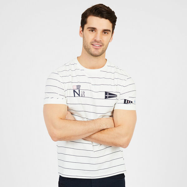 Striped Logo T-Shirt - Marshmallow