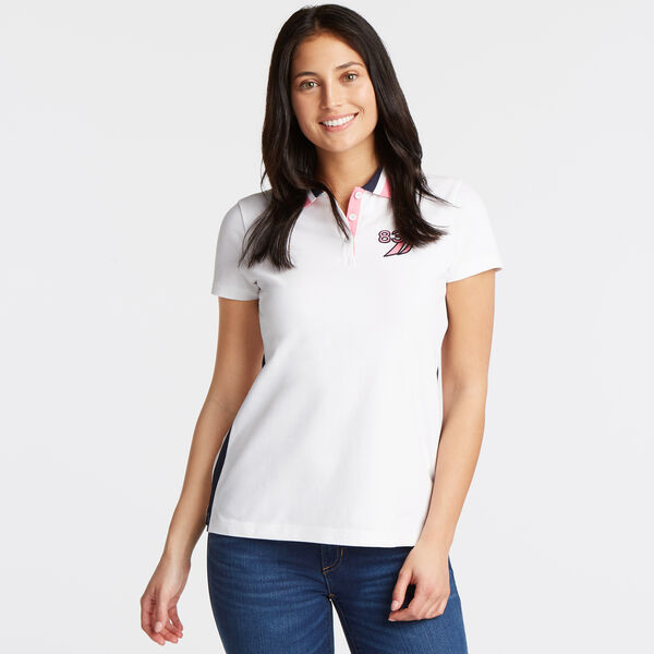 CLASSIC FIT POLO IN COLORBLOCK - Bright White