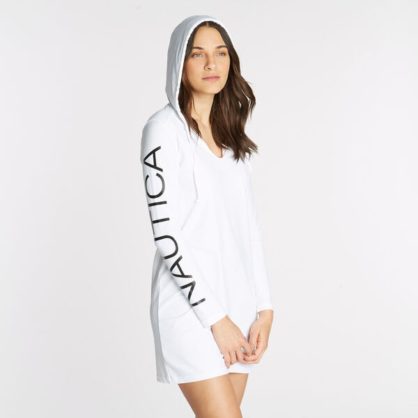 Logo Cover-Up Hoodie - Antique White Wash