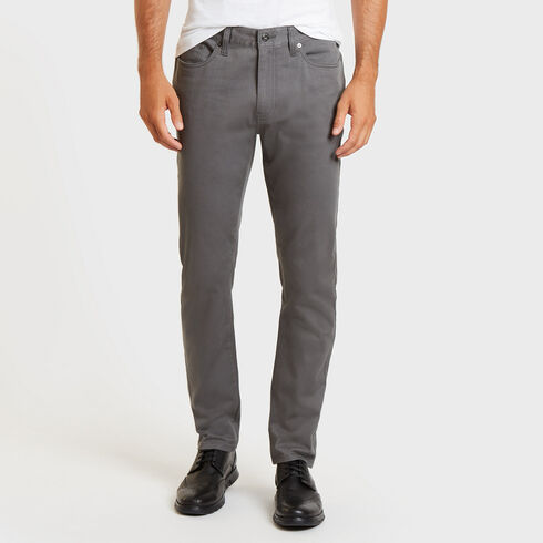 Slim Fit Stretch Twill 5-Pocket Pants - Sepia