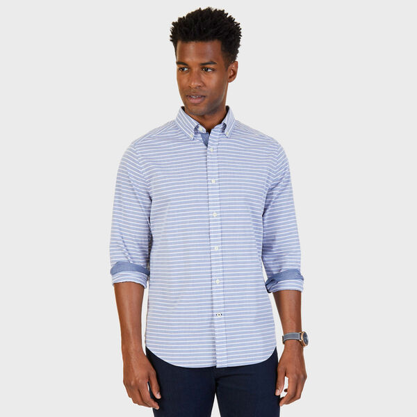Classic Fit Striped Shirt - Estate Blue