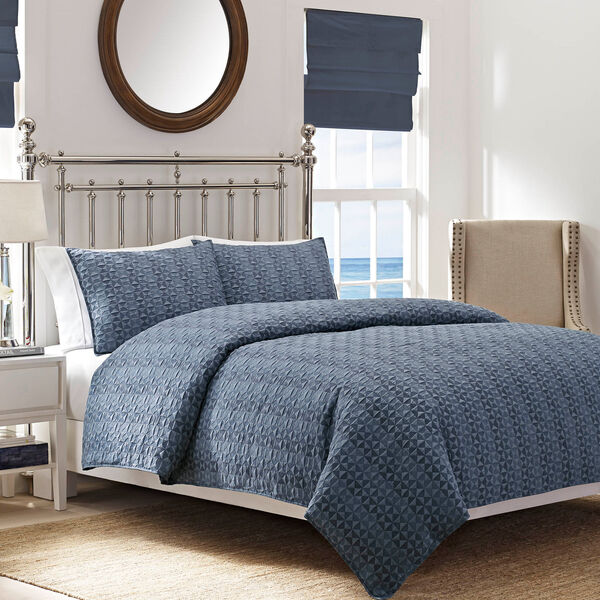 Ayer Full/Queen Duvet Set - Pure Dark Pacific Wash