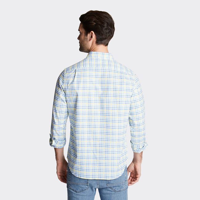 CLASSIC FIT OXFORD SHIRT IN PLAID,Pool Side Aqua,large