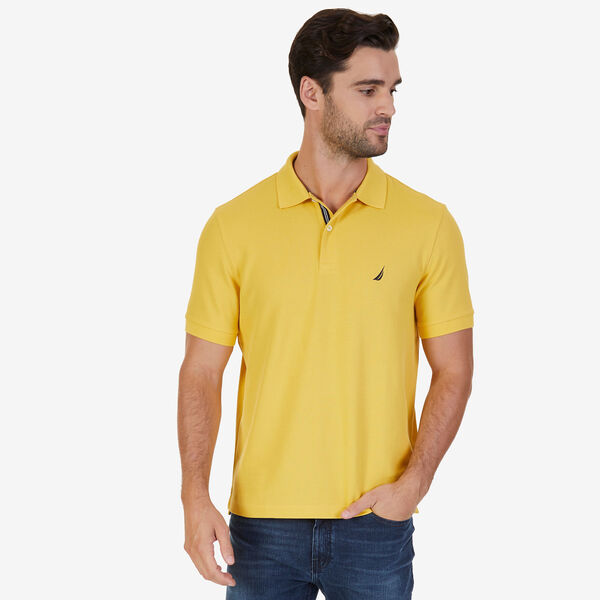 Short Sleeve Performance Deck Polo Shirt  - Mustard Field