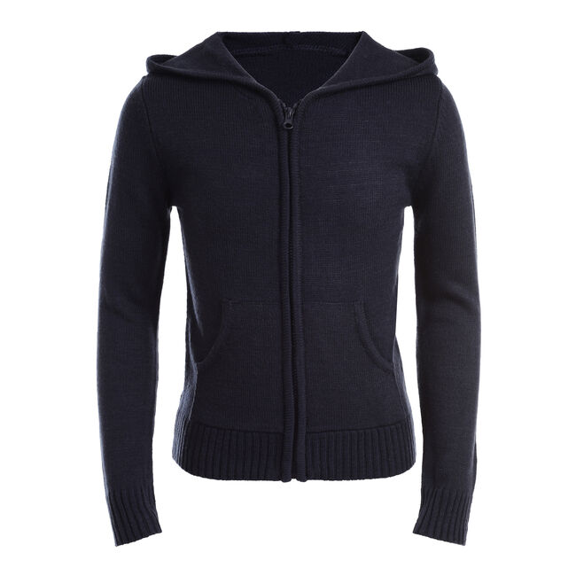 Girls' Full-Zip Hoodie with Pockets (7-16),Crystal Bay Blue,large