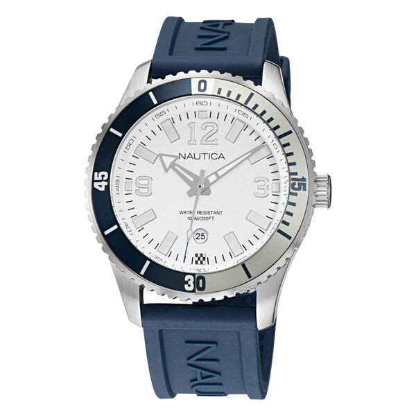 PACIFIC BEACH STAINLESS STEEL AND SILICONE 3-HAND WATCH - Multi