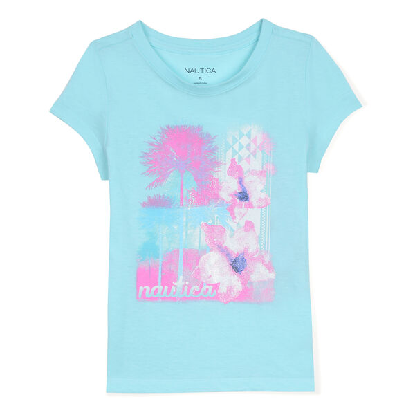 Toddler Girls' Floral & Palm Graphic Tee (2T-4T) - Sport Navy