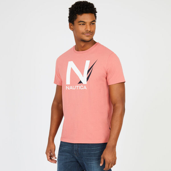 Big & Tall Signature Graphic T-Shirt - Pale Coral