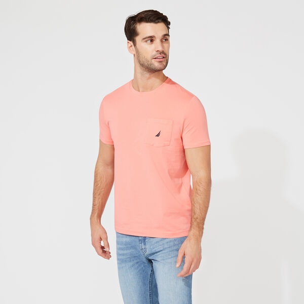 CLASSIC POCKET TEE - Pale Coral