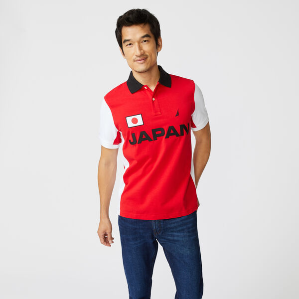 CLASSIC FIT JAPAN PRINT POLO - Reckoning Red