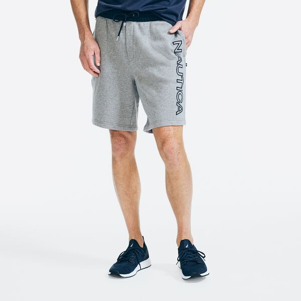 PERFORMANCE LOGO KNIT SHORT - Stone Grey Heather
