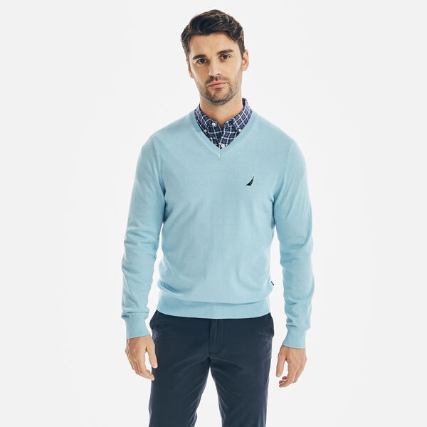 NAVTECH V-NECK SWEATER - Gulfcoast Blue Heather