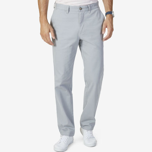Classic Fit Stretch Twill Colored Deck Pants - Bay Grey
