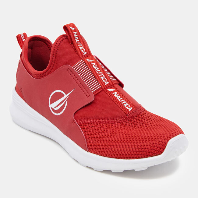 AMBREA MESH SLIP ON SNEAKERS,Nautica Red,large