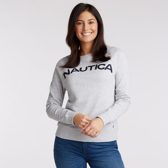 Logo French Terry Pullover,Pale Blue,large