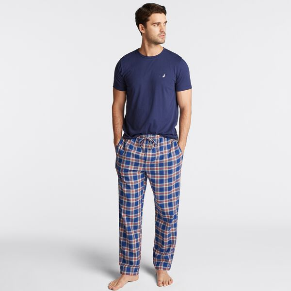 PLAID PAJAMA SET - J Navy