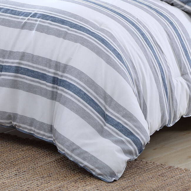 BAY SHORE NAVY KING COMFORTER-SHAM SET,Multi,large