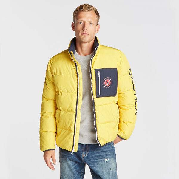 PUFFER JACKET WITH TEMPASPHERE - Buoy Yellow