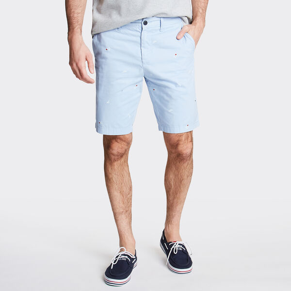 "8.5"" Slim Fit Printed Short - Sea Mist"
