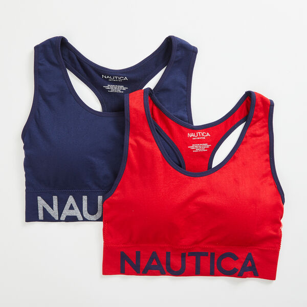 LOGO GRAPHIC SPORTS BRA, 2-PACK - Nautica Red