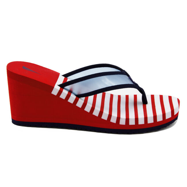 Tinley Wedge Sandals,Tango Red,large
