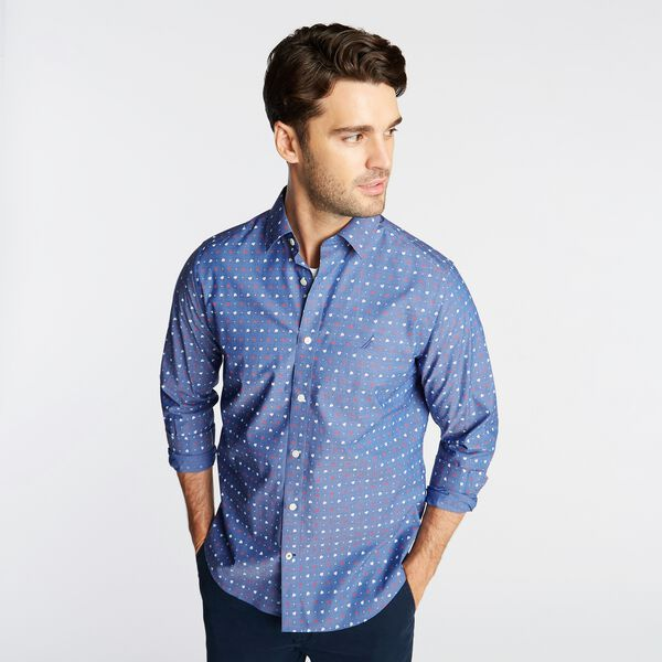 CLASSIC FIT WRINKLE RESISTANT SHIRT IN BOAT PRINT - Limoges