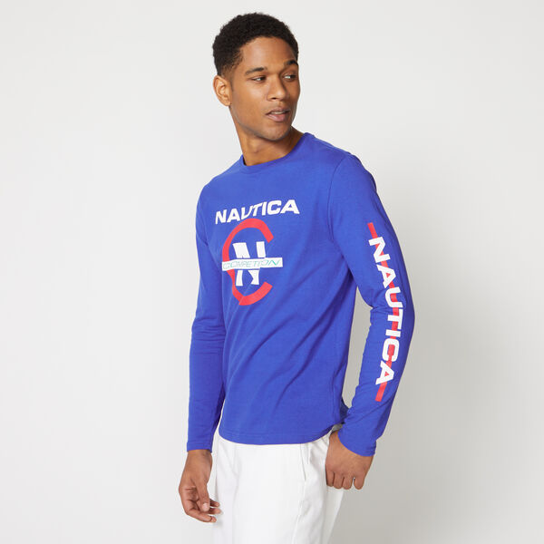 COMPETITION LONG SLEEVE GRAPHIC TEE - Bright Cobalt