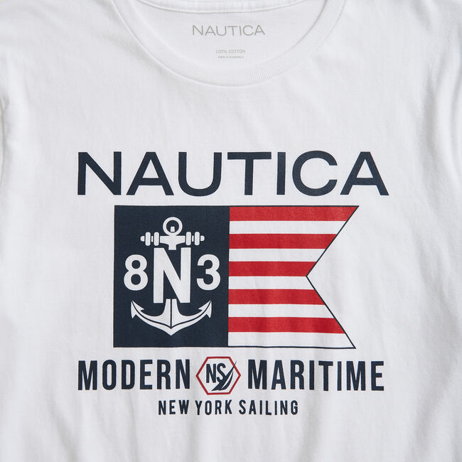 MARITIME GRAPHIC T-SHIRT,Bright White,large