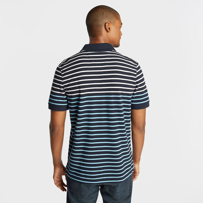 CLASSIC FIT PERFORMANCE POLO IN STRIPE,Navy,large