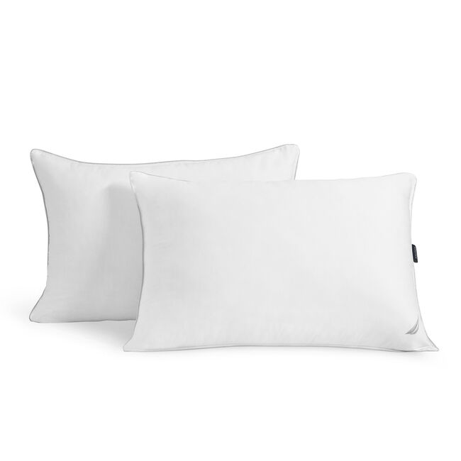 White Full/Queen Down Pillow,Bright White,large