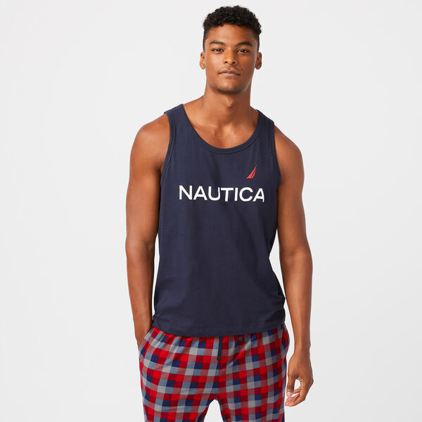 LOGO GRAPHIC SLEEP TANK - Navy