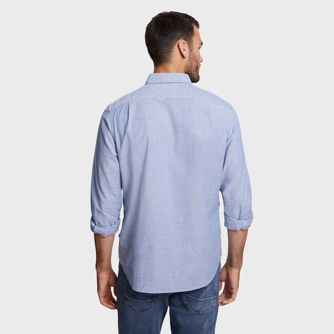 CLASSIC FIT STRETCH OXFORD SHIRT,Estate Blue,large