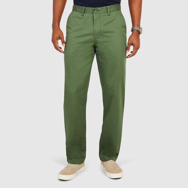 Flat Front Classic Fit Pants - Green Glow