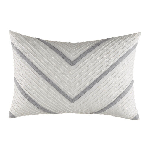 Clearview Ivory Chevron Pillow - White