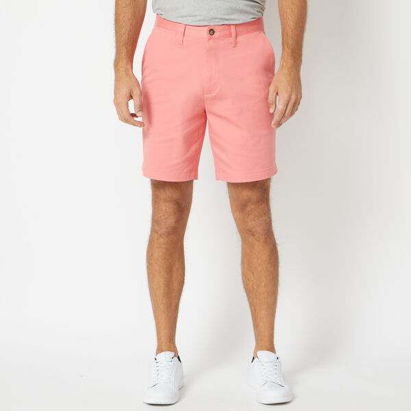 "8.5"" CLASSIC FIT DECK SHORTS WITH STRETCH - Seaport Salmon"