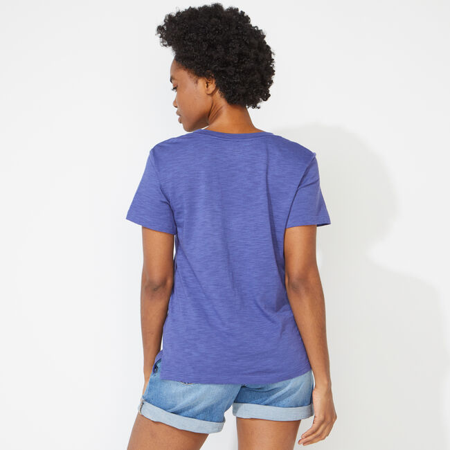 NAUTICA JEANS CO. V-NECK T-SHIRT,Sapphire/Pitch Yellow,large