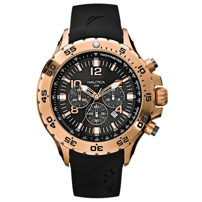 NST Chronograph Watch - Black,Multi,large
