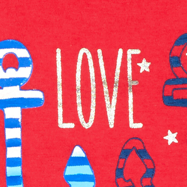 Toddler Girls' Love Your Stripes Tank Top (2T-4T),Buoy Red,large