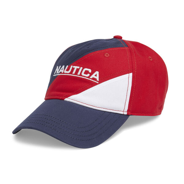 COLORBLOCK 3D PRINT BASEBALL CAP - Nautica Red