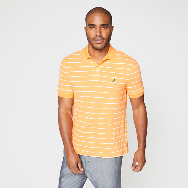 CLASSIC FIT STRIPED DECK POLO - Orange