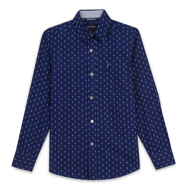 Toddler Boys' Anchor Shirt  (2T-3T) - Bait Cast Blue