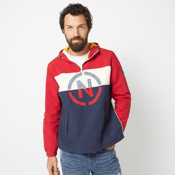 NAUTICA JEANS CO. PULL OVER ANORAK JACKET - Nautica Red