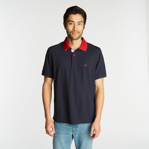 NAVTECH CLASSIC FIT INTERLOCK POLO - Navy