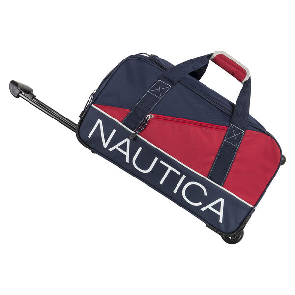 "Newton Creek 30"" Wheeled Duffel Bag in Navy/Red - Pure Dark Pacific Wash"